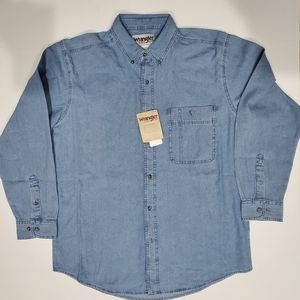 Wrangler Rugged Wear Long Sleeve Jean Shirt